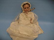 Simon Halbig bisque headed doll with open eyes and