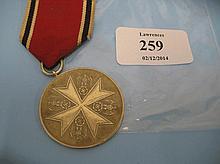 Third Reich Social Welfare medal
