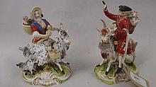 Pair of early 19th Century Derby figure groups, '