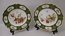 Pair of Royal Worcester cabinet plates painted wit