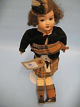 German bisque headed doll with jointed body in Hig
