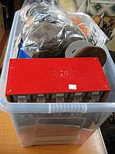 Box containing a large quantity of various dolls,