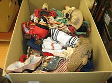 Box containing a quantity of various World dolls