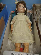 Armand Marseille bisque headed doll, No. 390, havi