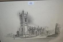 Limited Edition Geldart print of a cathedral, No.