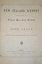 Leather bound folio of Gully's New Zealand scenery