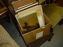 Folio of prints, watercolours of W. Russell Flint,