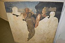 Oil on panel 'The Entombment of Christ', (unfinish
