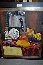Brian Seifert, pair of oils on canvas, still lifes