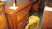 Late Victorian walnut dressing table with an assoc