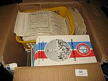 Box containing a large quantity of various Crystal Palace programmes from 1961 to 1977
