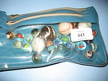 Small quantity of various glass marbles