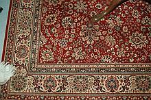 Machine woven Persian design carpet and another similar