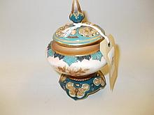 Hadley's Worcester pot pourri vase with floral decoration and pierced cover