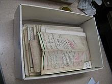 Bag containing a quantity of various indentures
