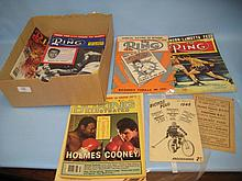 Box containing a quantity of various sporting programmes including: two cycle polo programmes