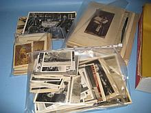 Folio containing a quantity of various 19th and 20th Century photographs of varying subjects including 20th Century actors and actresses