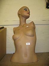 Head and torso female mannequin