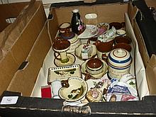 Box containing a quantity of various Cornish motto ware etc