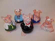 Group of seven various Wade National Westminster piggy bank figures