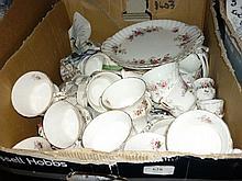 Royal Albert Lavender Rose pattern tea service