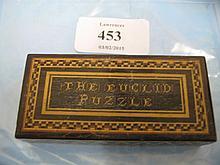19th Century Tunbridge ware euclid puzzle box (complete)