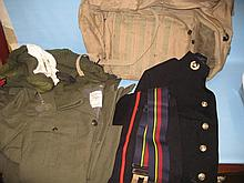 Royal Marine dress uniform together with a quantity of other uniforms