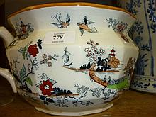 Early 20th Century Masons Ironstone chamber pot