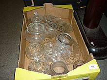 Quantity of various clear glass ware