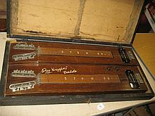 Ray Higgins double manual lap steel guitar in a wooden case (a/f)