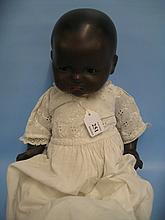 Armand Marseille bisque headed doll with sleeping eyes and jointed body, the head marked 341/4K