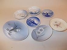 Group of seven Royal Copenhagen plates