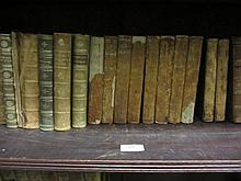 Collection of various 18th and 19th Century leather bound books