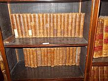 Set of thirty six 19th Century part leather bound volumes, ' The Waverley Novels '