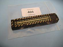 19th Century rosewood and inlaid toothpick box