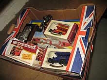 1970's Matchbox carrying case with forty eight Matchbox toys and other model cars etc