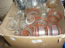 Quantity of miscellaneous drinking glasses