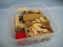 Box containing a quantity of various badges and medals etc