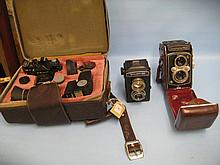 Cased Zenit camera outfit and two other cameras