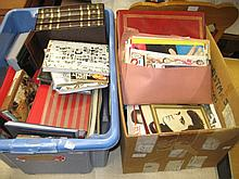 Box containing a quantity of various memorabilia including a quantity of various Elvis magazines etc together with another box of similar photograph albums etc
