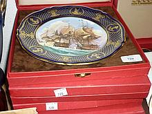 Group of five Spode Limited Edition maritime England plates, ' The Taking of Portobello ', ' The Battle of the Nile ', ' The Four Days Battle ', ' The Battle of Camperdown ' and ' The Glorious 1st of June '