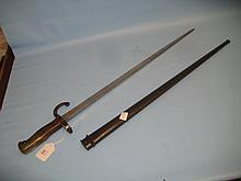 Late 19th Century French bayonet with steel scabbard