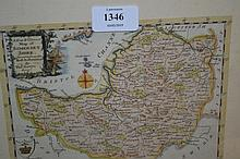 Thomas Bowen, ' A New and Correct map of Somersetshire ', hand coloured, 6.25ins x 7.75ins (margins trimmed)