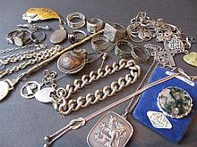 Quantity of various silver jewellery