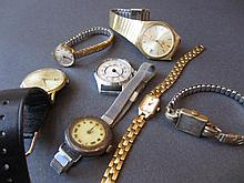 9ct Gold crown wind open face pocket watch (a/f) together with an Oris gold plated pocket watch