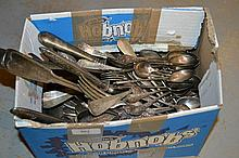 Quantity of various Continental silver plated flatware