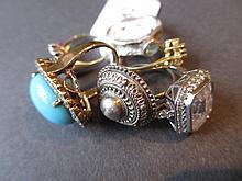 Six various dress rings