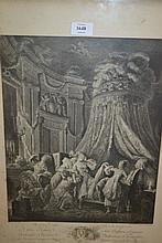 Pair of 19th Century French black and white engravings, ' Le Couche ' and ' Le Billet '