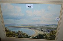 Watercolour, coastal scene, signed Trevor, a watercolour, seascape and another, harbour scene, signed Goodwin