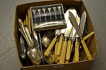 Quantity of various silver plated flatware